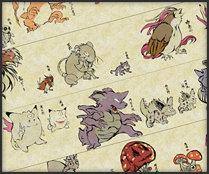 Pokemon as Japanese Art