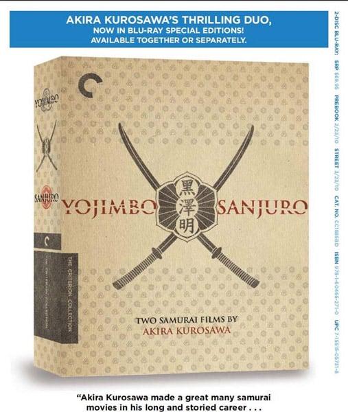 Blu-ray: Yojimbo & Sanjuro