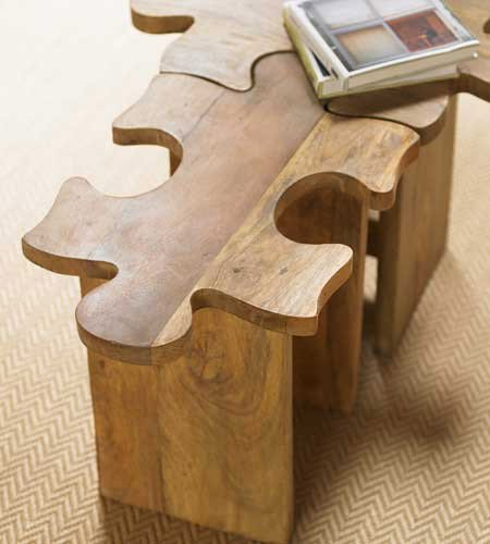 Jigsaw Puzzle Stool