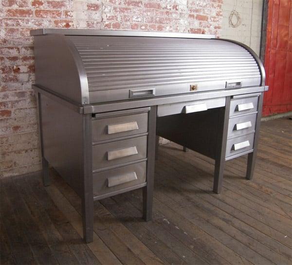 metal roll top desk - Rolltop Desk