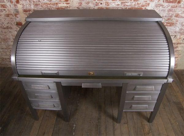 Metal Roll Top Desk