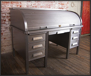 Metal Roll Top Desk