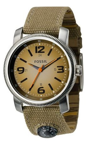 Fossil Analog Green Dial