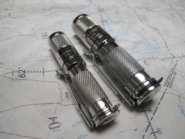 AA Flashlight: Stainless Steel