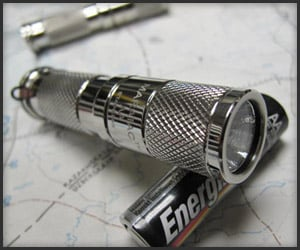 AA Flashlight: Stainless Steel