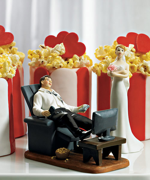 Couch Potato Groom Topper