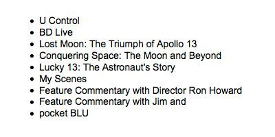 Blu-ray: Apollo 13