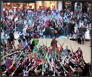 Bristol Lightsaber Flashmob