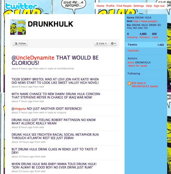 Twitter: DRUNK HULK