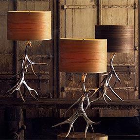 Aluminum Antler Lamp Base
