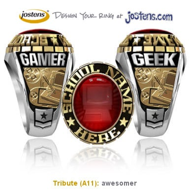 Josten's Geek/Gamer Rings