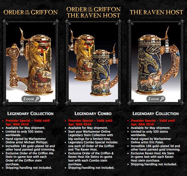 Warhammer: AoR Beer Steins