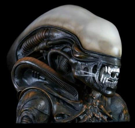 Lifesize Alien Bust
