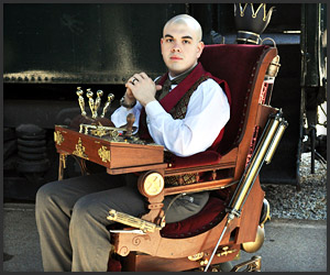 Steampunk Prof. X Wheelchair
