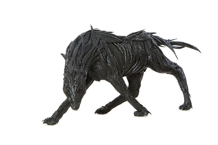 Used Tire Sculptures