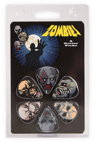 Zombies Guitar Pick 6-Pack