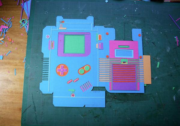 Papercraft Gameboy