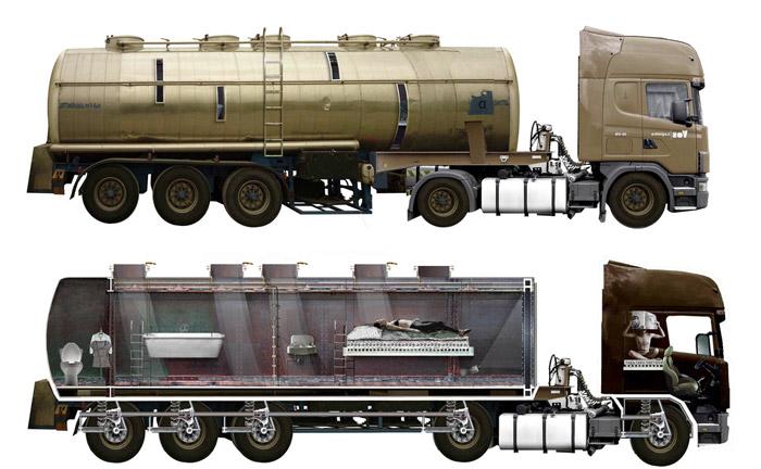 Concept: Tanker Truck Homes
