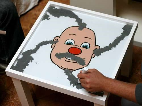 DIY: Wooly Willy Table