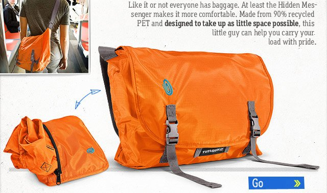 Hidden Messenger Bag