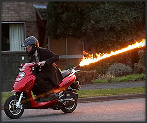 Flame-Throwing Scooter