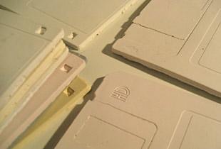 Ceramic Floppy Disk Tiles