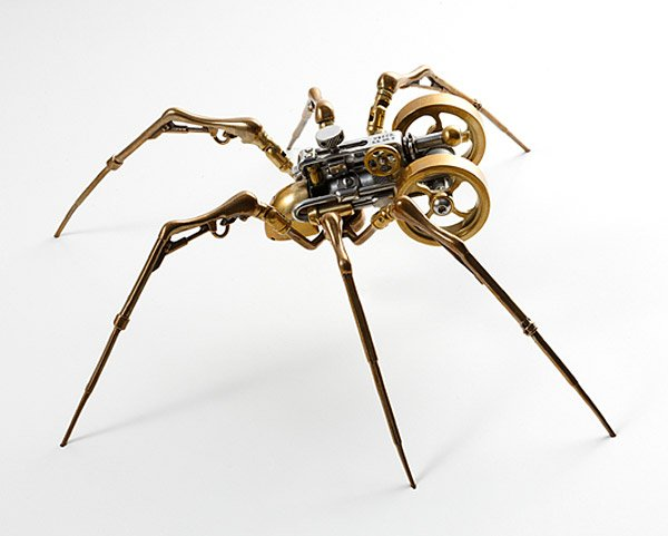 Biomechanical Metal Sculptures