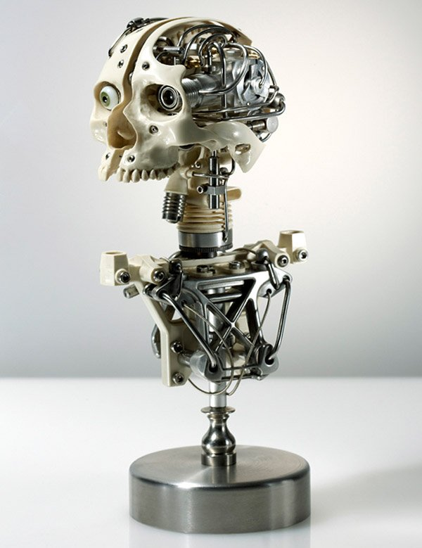 Biomechanical Metal Sculptures