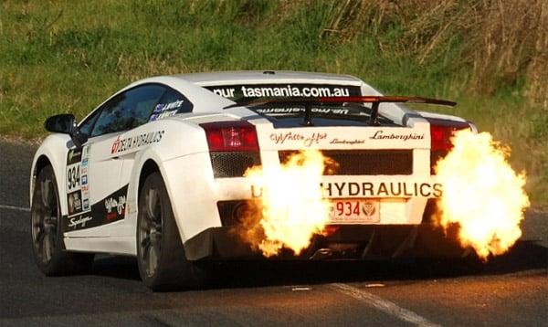 Flaming Lamborghini