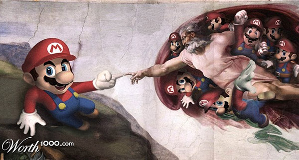 Video Game Renaissance: Super Mario meets God | Image: Clint Flint