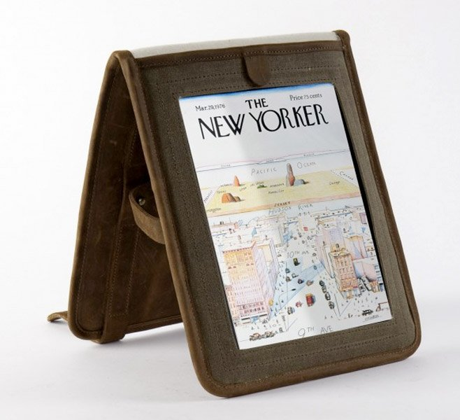 Temple Leather iPad Bag