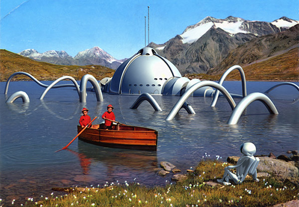 Alien Invaders Postcards by Franco Brambilla
