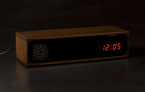 Furni Knox Wooden LED Clock