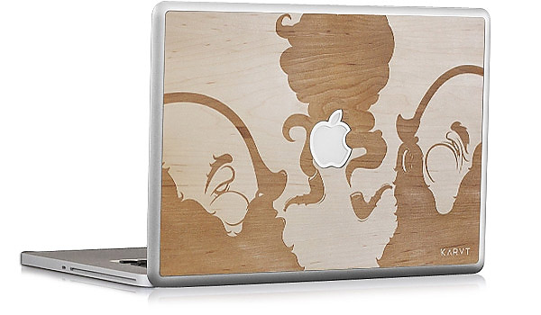 KARVT Wooden Mac Book Skins