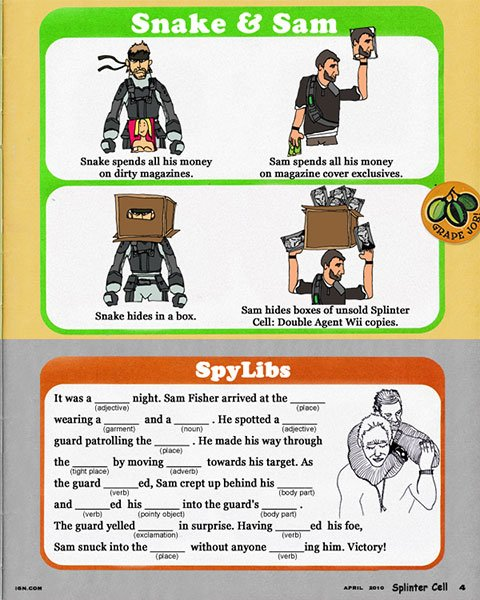 Splinter Cell Activity Book