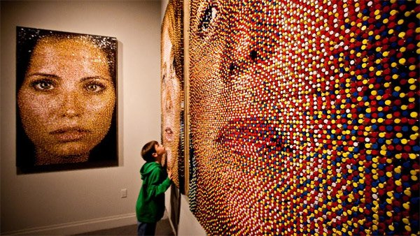 Pushpin Portrait Art