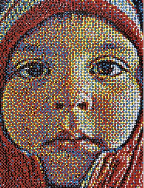 Pushpin Portrait Art