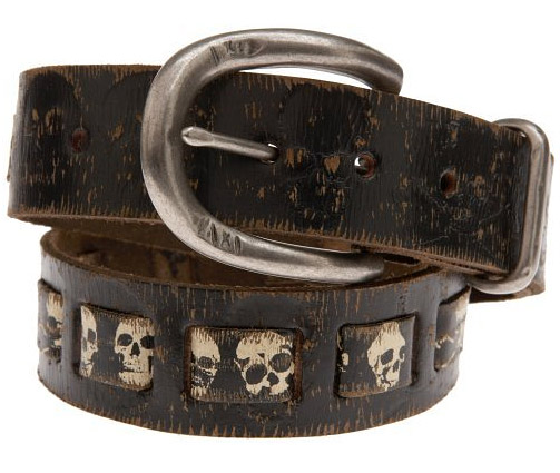 Screen Printed Skull Belt
