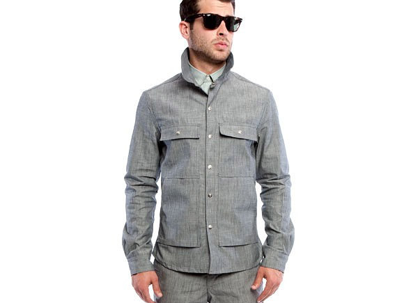 Chambray shirt jacket for Cuisine you chambray