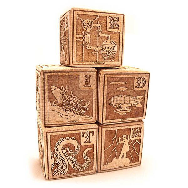 Mad Scientist Alphabet Blocks