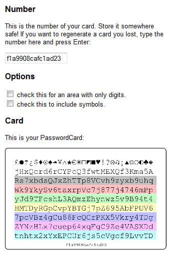 Your PasswordCard