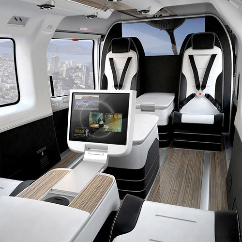 Luxe Mercedes Benz Helicopter