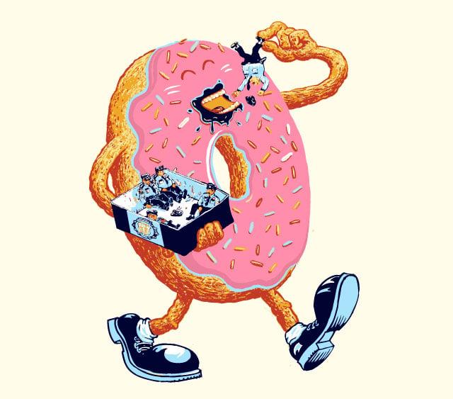 Donuts Love Policemen T-Shirt