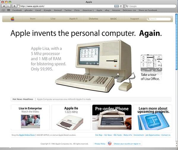 Apple Website 1983/1993