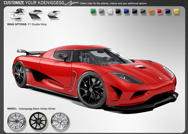 Koenigsegg Configurator