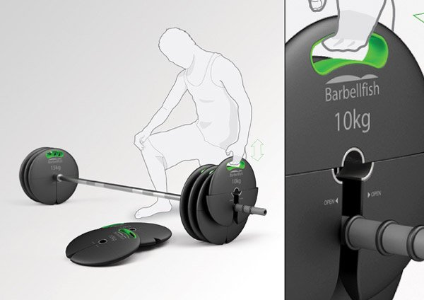 Top Loading Barbell Concept