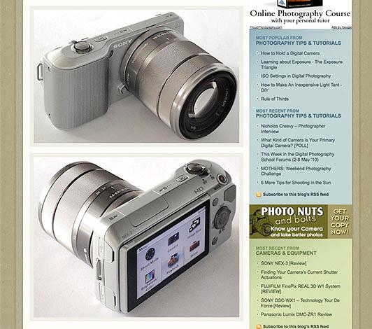 Sony NEX-3, NEX-5 Cameras