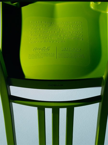 Coca Cola Recycled Bottle Chair
