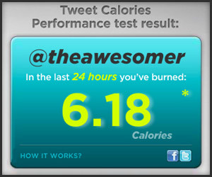 Twitter Burns Calories