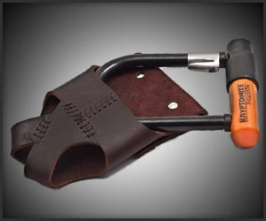 Leather Bike Lock Holster